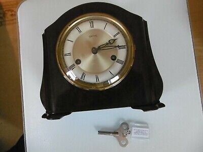 VINTAGE 1950s SMITHS BAKELITE MANTLE CLOCK MADE IN ENGLAND -Working Fine!