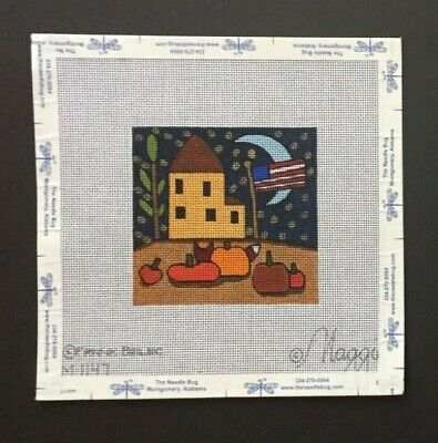 """Maggie Co./Frank Bielec Hand-painted Needlepoint Canvas """"Pumpkin Pirate"""""""