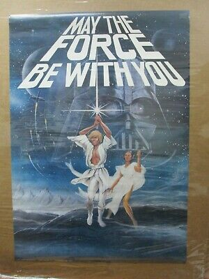 Vintage Poster Star Wars May the force be with you 1977 Inv#G4539