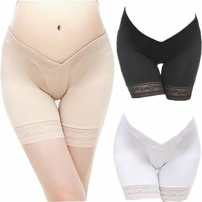 Fashion Lace Maternity Underwear Cotton U-shaped Low-waist Briefs Belly Support