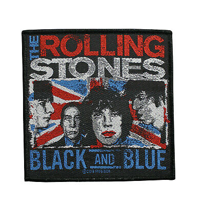 3b064df95f7 The Rolling Stones Woven Sew On Patch - Black & Blue Battle Jacket Patch  083-