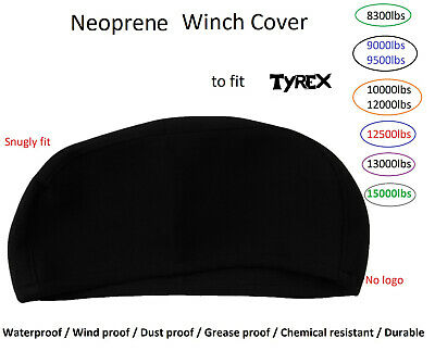 Neoprene Cover for Tyrex 8300 9000 9500 12500 15000lbs Heavy Duty Winch XL04
