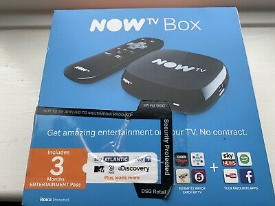9dfc897238b NOW TV Box with 3 Month SKY Entertainment Pass NEW In Unopened Box