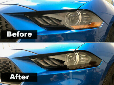 Crux Motorsports Head Light Tint Air Release fits Ford Mustang 2018 +