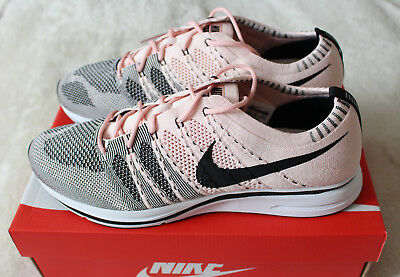 88fa1bf32855e NIKE FLYKNIT TRAINER OG Sunset Tint Pink Salmon Coral Black AH8396 ...