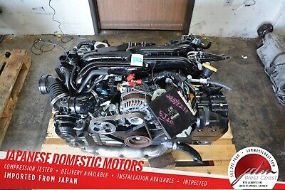 JDM SUBARU FORESTER SG9 STi EJ255 2 5L Engine VF41 Single Scroll