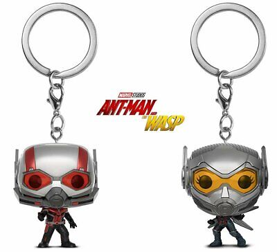 Funko Pop Marvel AntMan & The Wasp Vinyl Collectible Figure Key Chains (2 Items)