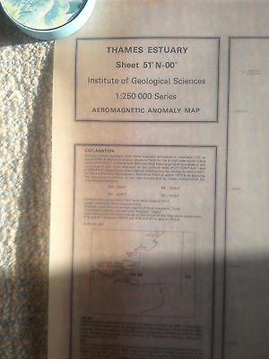 THAMES ESTUARY Institute Geological Sciences Aeromagnetic Anomoly Map Y  51N-00