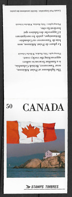 Canada Stamps - Booklet of 4 in Cover - Flags #1190a (BK123) - MNH