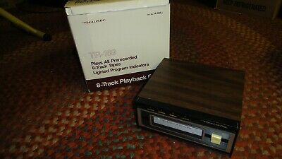 Realistic 8 Track Tape Player, Wood Grain, Vintage With Box