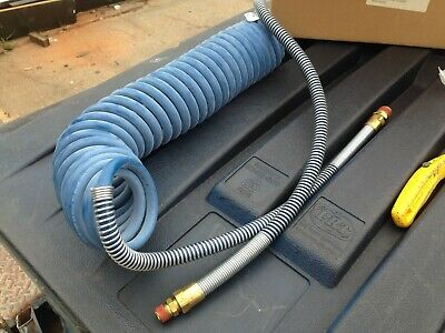 Coiled Air Line Assembly, Blue Only, For Tractor Trailer Air Brakes,  New