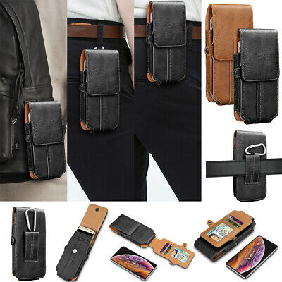 For iPhone 6 7 8 Plus Leather Belt Clip Pouch Carrying Wallet Case w/Card Holder
