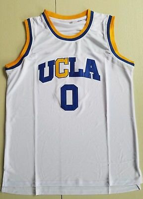 62fe2166ec9 Russell Westbrook #0 UCLA Bruins College Basketball Jersey NCAA White  Stitched
