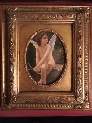 Cupid/Eros oil painting Victorian reproduction framed Bouguereau French art