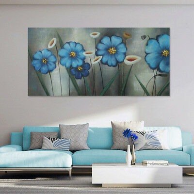 Pure Hand Painted Modern Oil Painting Canvas Art Wall Home Decor Framed Flowers