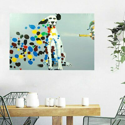Framed Hand Painted Oil Painting Canvas Modern Wall Art Home Decor Dalmatian