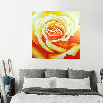 Modern Abstract Framed Hand Painted Oil Painting Canvas Decor Art Rose Flower