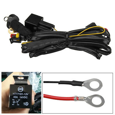 for bmw r1200gs f800gs/adv 12v 40a led fog lights wiring harness switch on/