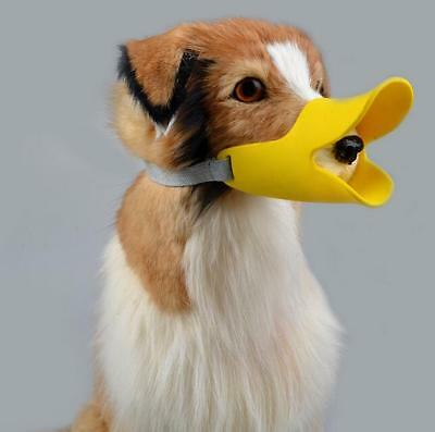 Yellow Anti-barking Duck Muzzle Face Lip Mouth Guard Protection Pet Dog Puppy