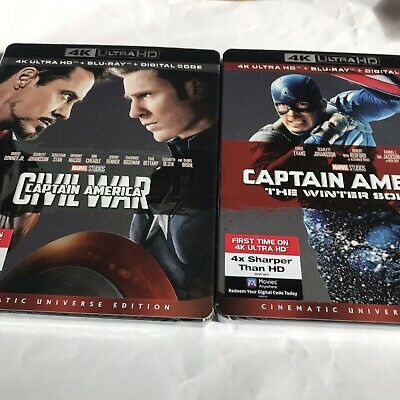 Captain America: The Winter Soldier & CA Civil War (4K + Blu-ray + Digital Codes