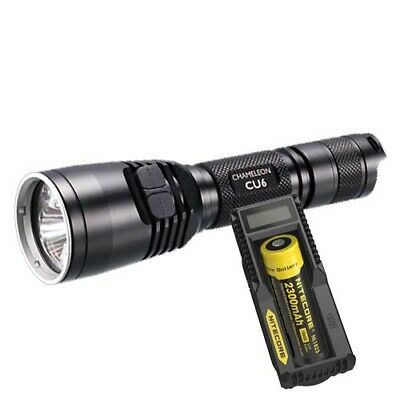 Nitecore CU6 UV/White LED Tactical Torch, Battery & Charger (AUST STK)
