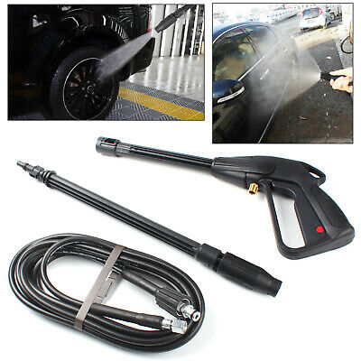 High Pressure Washer Spray Gun 120 Bars Jet Lance Trigger Wash Water And 5m Hose