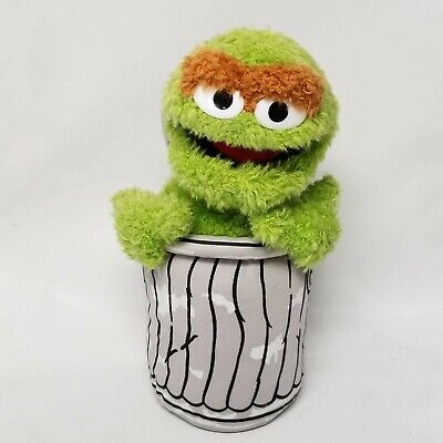 4696ded73 2003 Nanco Oscar the Grouch Trash Can Sesame Street Plush Stuffed Animal 10