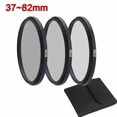 37 43 49 52 55 58 62 67 72 77 82mm Camera Filter Neutral Density ND 2 4 8 Filter