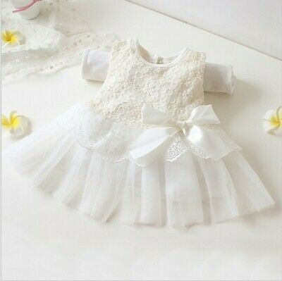 Baby White Lace Dress- NWT Size 0