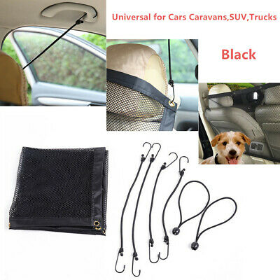 Pet Safety Net Van Seat Mesh Dog Barrier Travel Black 115x62cm for Car SUV Truck