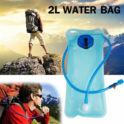 2L Hydration Water Bladder Bag Hiking Camping Backpack Drinking Pouch Sports New