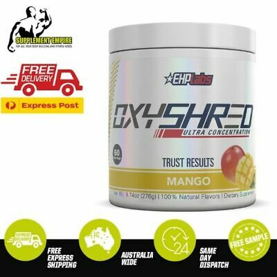 EHP Labs OxyShred MANGO FLAVOUR Fat Burner Thermogenic Weight Loss 60 serves