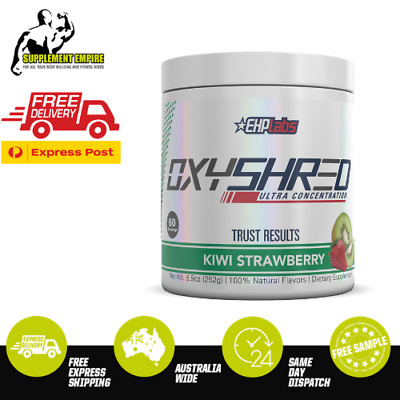 EHP Labs OxyShred KIWI STRAWBERRY FLAVOUR Fat Burner Thermogenic 60 serves