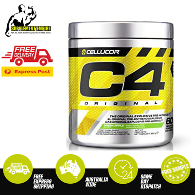 Cellucor C4 GREEN APPLE Flavour ORIGINAL ID Pre Workout Preworkout 60 serves