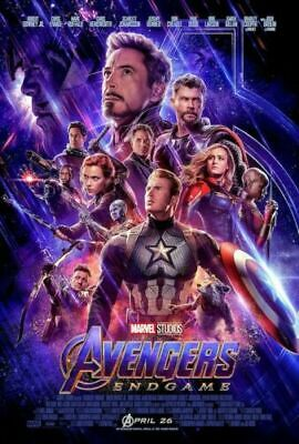 AVENGERS ENDGAME - ONE SHEET MOVIE Art Silk Poster 12x18 24x36