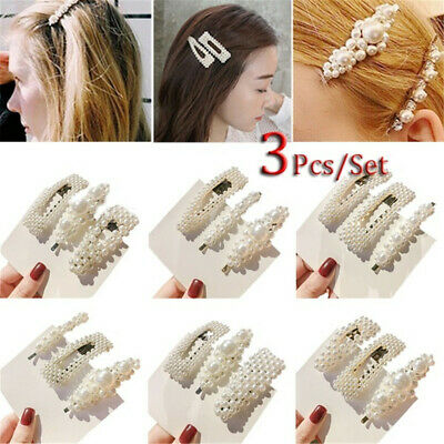 3Pcs/Set Women Girls Metal Alloy Geometric BB Hair Clips Hair Accessories