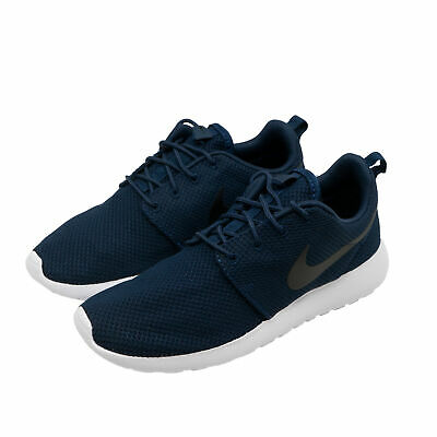 reputable site db4d8 fe952 Nike ROSHE ONE Homme Chaussures Basse Sneakers Baskets Bleu Fonce Sport NEUF