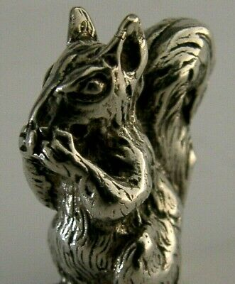 Quality Heavy Solid Silver Miniature Squirrel Figure 1944-1968