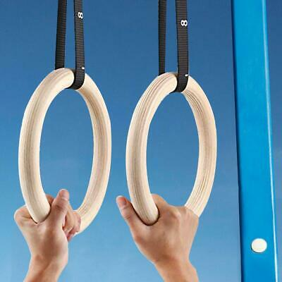 Gymnastic Rings Straps Gym Crossfit Strength Training Ring Gym Fitness Pull Up