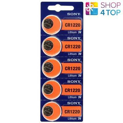 5 SONY CR1220 LITHIUM BATTERIES 3V 40 mAh CELL COIN BUTTON EXP 2028 NEW