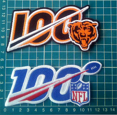 """2019 NFL 100 years and Chicago Bears 100 seasons anniversary 5"""" patch Football"""