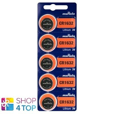 5 Murata Cr1632 Lithium Batteries 3V 140 Mah Cell Coin Button Exp 2029 Sony New