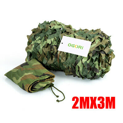 Camouflage Net Camo Hunting Shooting Hide Army Camping Woodland Netting 2M x 3M