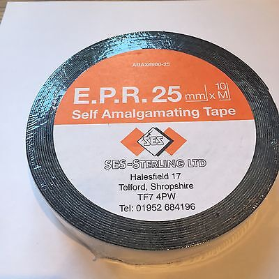 Self Amalgamating Tape Repair Rubber Waterproof Sealing Insulation 25mm x 10m