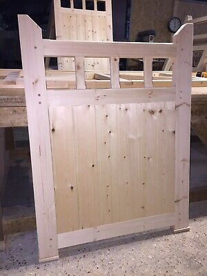 Wooden Garden Pedestrian Gate With Spindles 4 Ft High X 4ft Wide