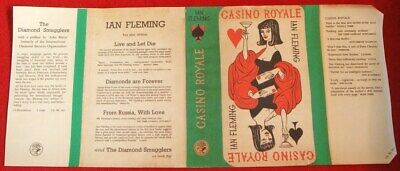 Ian Fleming - Casino Royale - Facsimile Dustjacket Only - 1957 - 2Nd/1St