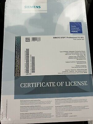 Siemens Simatic S79220-B5445-F888 Step 7 Professional V13 Sp1 Trial365 Software