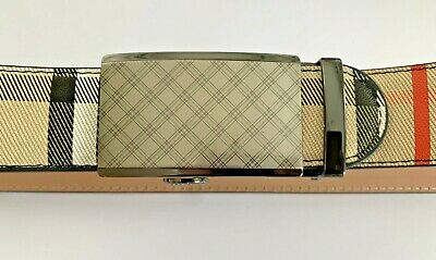 Mens Womens Designer Belts Real 35 Mm Leather Checked Automatic Belt For Men