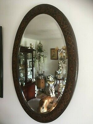 Arts And Crafts Oval Mirror