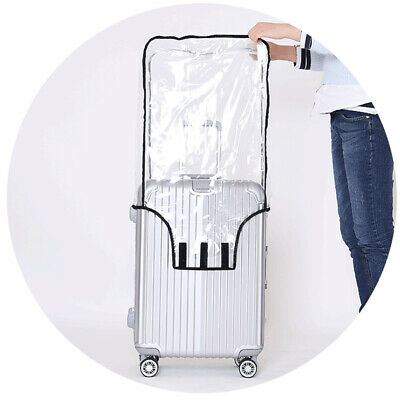 Travel Waterproof Transparent Clear PVC Luggage Cover Suitcase Protector fit 20""